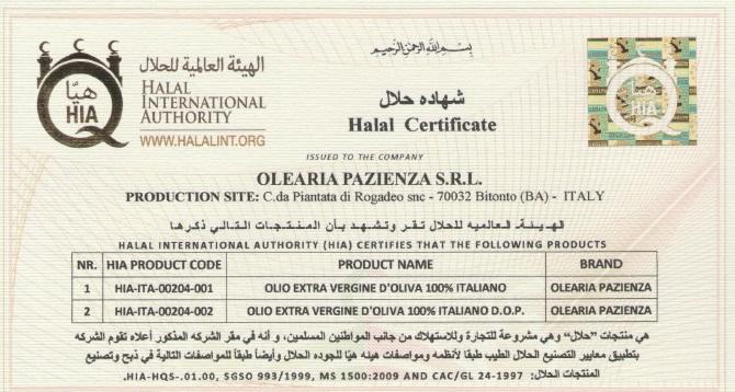 olearia-pazienza-certificazioni